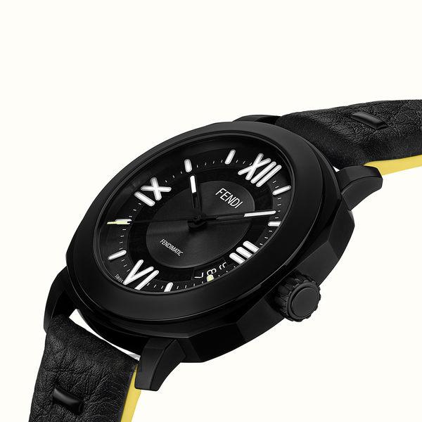 FENDI芬迪 Selleria 系列男裝機械套錶-黑/42mm F820011011