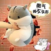 倉鼠抱枕公仔玩偶毛絨玩具女生可愛超萌韓國搞怪睡覺抱女孩布娃娃   LannaS