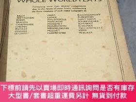 二手書博民逛書店PIANO罕見PIECES THE WHOLE WORLD PLAYS(全世界演奏的鋼琴曲)Y320155 P