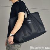 男士行李袋手提短途旅行包大容量行李包尼龍防水旅行袋休閒旅游包 印象家品旗艦店