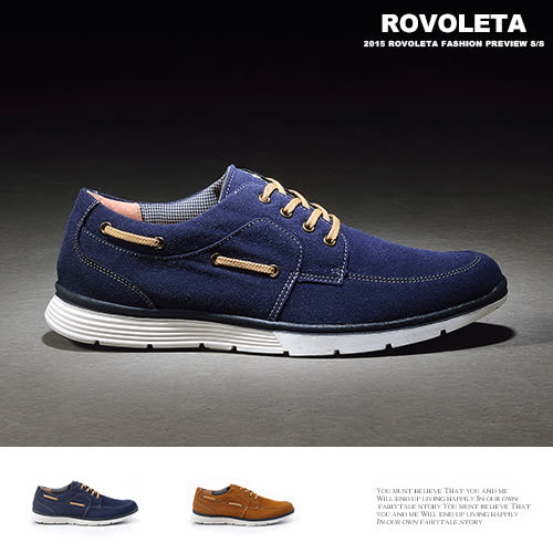 麂皮仿古帆船鞋【LU-T-736】(ROVOLETA)