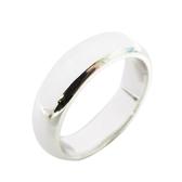 Tiffany & Co 蒂芬妮 簡約造型純銀戒指 12.5號 PT950 【二手名牌 BRAND OFF】