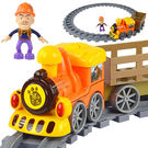 熊出沒兒童電動軌道車拼接小火車積木拼插組裝建構玩具寶寶生日禮