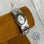 BRAND楓月 Christian Dior 迪奧 D90-100 橢圓 白色面盤 銀錶 女錶 手錶