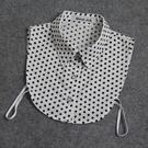 假領子針織外套領片 日系水玉圓點點復古領...