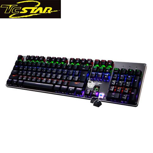【假日特賣】 T.C.STAR 連鈺 TCK807 青軸全鍵可插拔機械鍵盤
