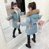 女童棉衣派克服冬裝2020新款童裝洋氣中大兒童外套加厚羽絨棉服襖 滿天星