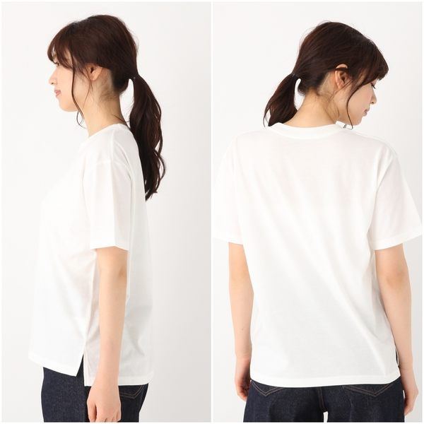 GLOBAL WORK女素色圓領圖樣印刷字母吸濕快乾短袖T恤上衣-四色