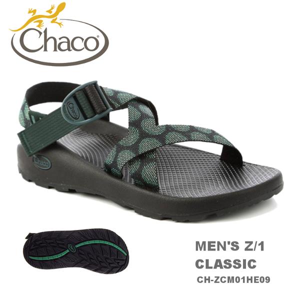 【速捷戶外】美國 Chaco  專業戶外運動涼鞋男 Z/1-標準(渦流綠) CH-ZCM01HE09,戶外涼鞋,運動涼鞋