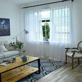 十字紗百搭溫馨純白紗精致簡約客廳窗紗臥室陽臺落地窗定制 限時八五折