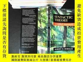 二手書博民逛書店Syntactic罕見Theory: A Unified ApproachY167411 Robert D.