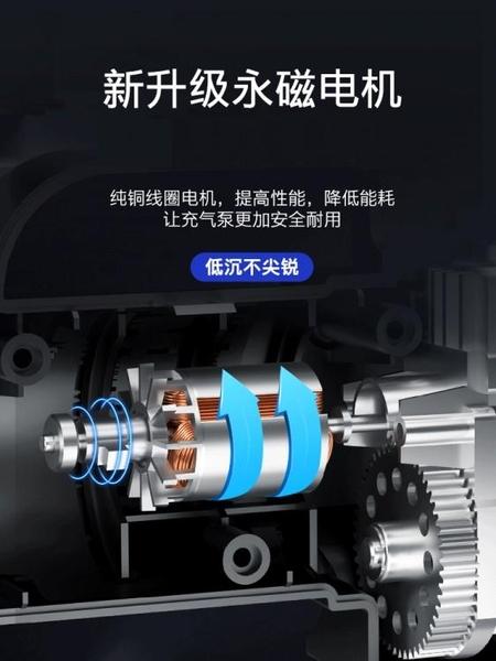 充氣泵車載充氣泵小轎車便攜式汽車電動輪胎多功能12v加氣泵車用打氣筒 【快速出貨】