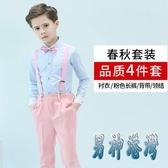 兒童演出服男童小主持人禮服鋼琴表演服花童禮服西服西裝套裝春秋 JY15170『男神港灣』