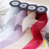 高檔DIY發飾絲帶素色紋理彩帶鮮花禮品包裝緞帶【雲木雜貨】