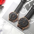 RELAX TIME Classic 經典系列 立體波紋簡約俐落情人對錶 真皮手錶 防水錶 玫瑰金X黑 RT-88-5M+RT-88-5L