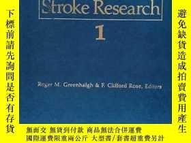 二手書博民逛書店Progress罕見in Stroke Research 1 (Greenhalgh & Rose, Editor