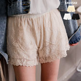 ★春裝上市★MIUSTAR 宮廷感!日系葉子布蕾絲短褲(共3色)【NG000321】現貨+預購