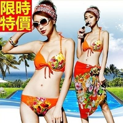 比基尼-音樂祭時尚小碎花性感夏天|三件式泳衣-67h6【時尚巴黎】