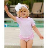 美國RuffleButts 女寶寶 二件式泳裝 多件式泳衣 粉紅點點【RURGSPP】