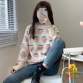韓版軟糯毛衣寬鬆長袖套頭針織衫外穿上衣女