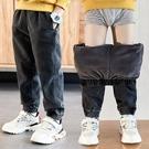 兒童棉褲 男童褲子2021春新款中大童兒童加絨長褲童裝束腳韓版【快速出貨八折下殺】