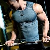 全館83折健身服男緊身背心無袖運動T恤彈力速干透氣跑步坎肩訓練健身上衣