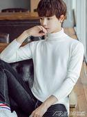 秋冬季男士高領毛衣修身韓版套頭純色針織衫打底衫線衫男學生潮  潮流前線