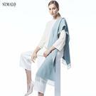 【ST.MALO】皇室精品素色羊駝圍巾-...
