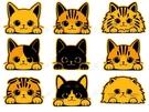 【收藏天地】貓咪出沒*療癒無敵貼 9款 防水貼 寵物 車貼 貼紙 貓奴必備