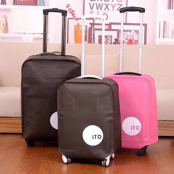 ✭慢思行✭ 【N023】加厚無紡布拉杆箱套 旅行箱保護套 行李箱防塵套 防潮耐磨 防塵罩 24吋