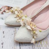 韓國直送-純真幸福天使花鞋扣鞋夾配飾