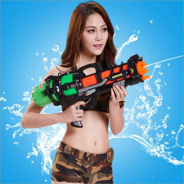 加厚超大加壓力抽拉式噴水槍夏日沙灘成人互動戲水玩具打水仗潑水 MKS免運