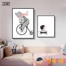 兒童房裝飾畫男孩女孩房間臥室床頭卡通動物掛畫【淘嘟嘟】