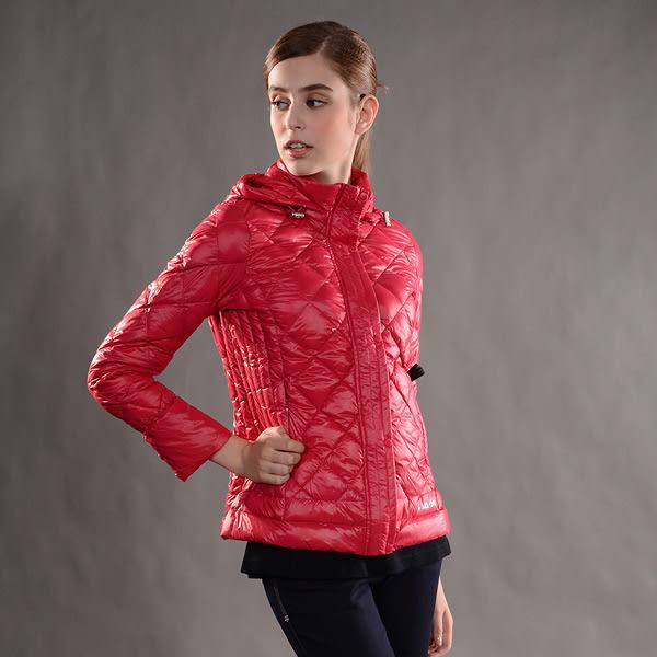 JORDON 橋登 JD439-紅酒 女超輕羽絨夾克 輕量化羽絨衣/可收納羽絨衣/保暖羽絨外套