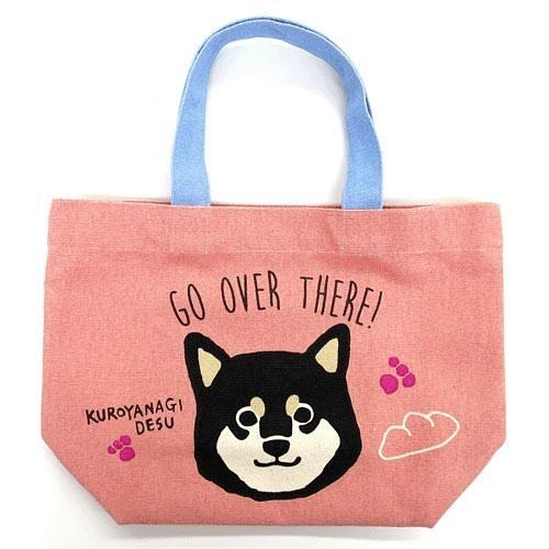【日本厳選】Hobby柴犬 粉紅色黑柳帆布手提包