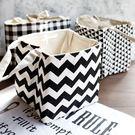 【BlueCat】棉麻黑白幾何三角形保溫保冷束口便當袋