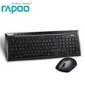 【綠蔭-免運】Rapoo 雷柏8200P-黑 無線光學鍵鼠組