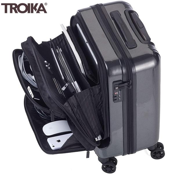 又敗家@德國TROIKA商務18.5吋登機箱LUG02/CB隨身行李箱(TSA海關鎖;飛機輪;智能分類;抗震)手提登機箱