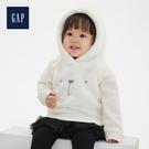 Gap女嬰兒圓領長袖套頭連帽衫秋525875-象牙白