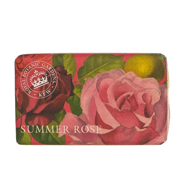 岡山戀香水~Kew Gardens 英國皇家植物園 乳木果油天然香皂 240g (夏日玫瑰) ~優惠價:299元