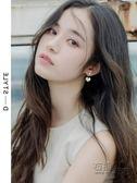 耳釘女小清新氣質超仙韓國甜美個性新款百搭愛心一款兩戴耳環   衣櫥の秘密