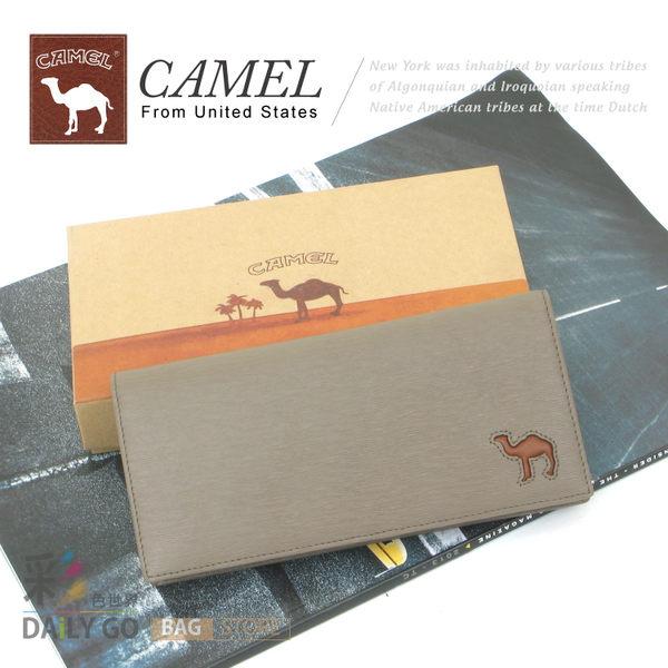 CAMEL卡梅爾駱駝真皮夾牛皮包長夾男夾-長皮夾12007-3灰