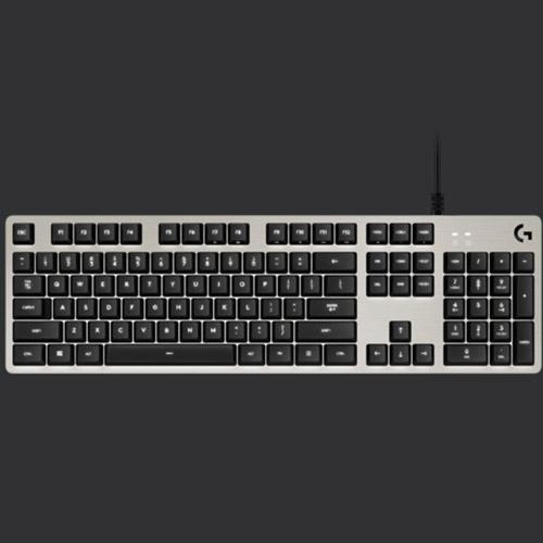 Logitech 羅技 G413 機械式背光遊戲鍵盤-銀 .