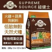 *KING WANG*美國Supreme Source紐健士 低敏無穀天然犬糧》火雞+蔬果5lb 狗飼料