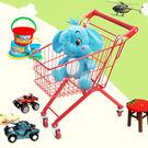 兒童購物車家用小推車超市推車 玩具精品彩色女孩男孩過家家車子 XW
