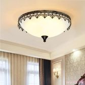220v 吸頂燈美式復古主臥室燈 三色變光圓形次臥家用房間燈具 DR21840【Rose中大尺碼】