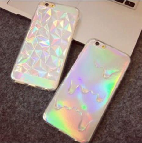 [24hr 火速出貨] 手機殼 創意 鐳射 鑽石 融化 鑽石紋 包邊 軟殼 保護套 個性 潮流 蘋果 iphone 6 plus