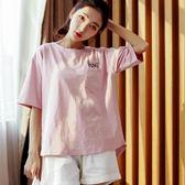 韓版睡衣女夏短袖甜美可愛清新學生棉質春夏兩件套裝 LR231【歐爸生活館】