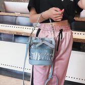 透明水桶包包女2018新款果凍包單肩斜挎包