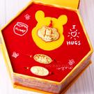迪士尼系列金飾-維尼彌月黃金禮盒-小熊維...